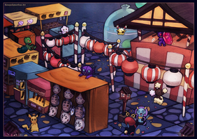 Pokemon Shuffle: Night Festival by RenePolumorfous