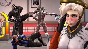 Mercy and the Lover Squad by DarknessRingoGallery