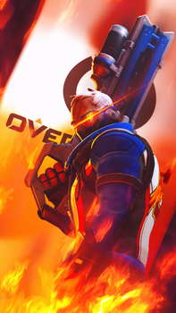 Soldier 76 (Overwatch) by PaintIsPainful