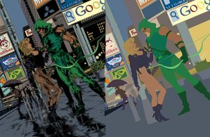 Black Canary Green Arrow flats by alexasrosa