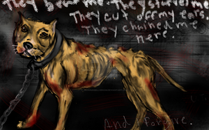 The poor old dog by JackRussellVenom