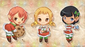 Santa's Little Helpers by a-l-m