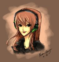 Girl with Headphones by naochiko-feature-acc