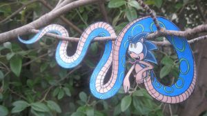 Tree Hanging Naga Sonic by spectrum-sparkle