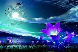 Flower moonlight by linkk99
