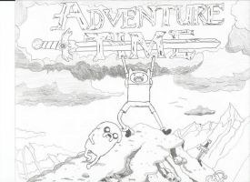 Adventure Time Title Screen by stonerloner