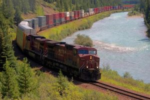CP Rail Stack train On The Bow by rdw283
