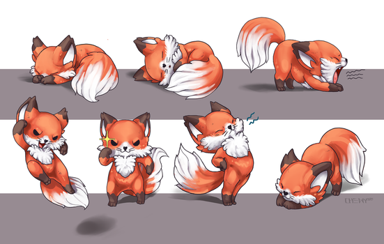 Fox (pawstar mascot) by Mutated-Sushi