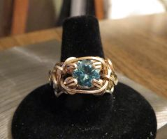 Blue topaz ring front view by whippetgirl