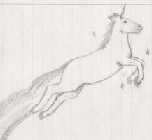 magical badly drawn unicorn by mangalori