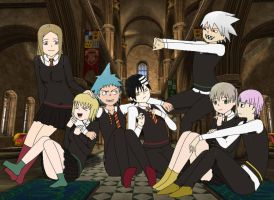 Birthday Art: Soul Eater meets Harry Potter by anime-artist-love