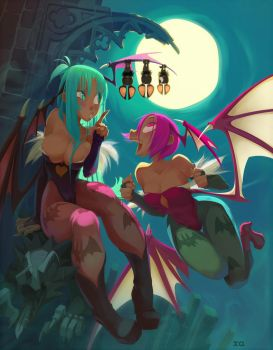 Lilith morrigan and Co by xa-xa-xa