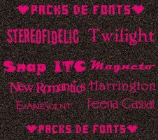 Packs de Fonts by Briza2012