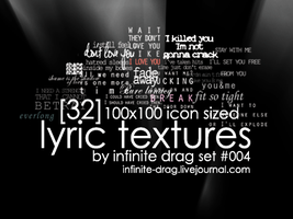 lyric textures set 004 by infinite-drag