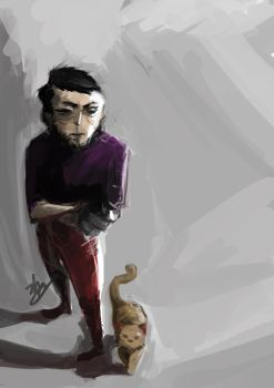 The Cat Owner by zbo3190