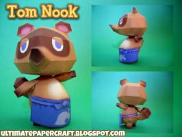 Tom Nook Papercraft by squeezycheesecake