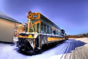 Hop the Train?   HDR Train by Witch-Dr-Tim