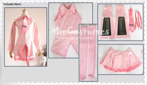 Pink Vocaloid Sakura Miku Cosplay Costume by miccostumes
