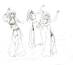 Request: Dancers lineart by McFearless1810