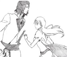 Starrk and Orihime by Deadzone222