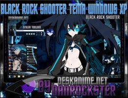 Black Rock Shooter Theme Windows XP by Danrockster
