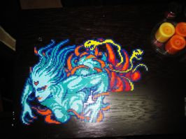 FFIII Cloud of Darkness Perler by AlyciaZU