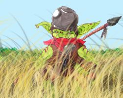 Goblin in the Grass by Zabchan