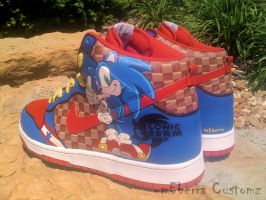 Sonic 'Light Speed' dunks by meberra