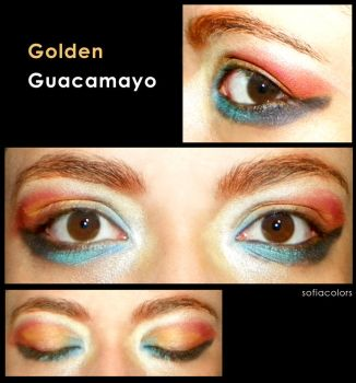 Golden Guacamayo by SofiaColors