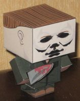 Micheal Myers Cubee by paperart