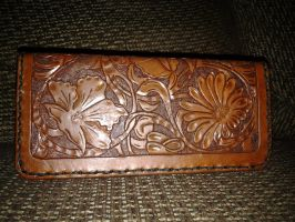 Floral Check Book Cover by bhamstreetleather