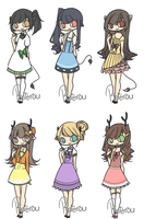 Adoptables16 [CLOSED] by Reitrou