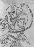 Kratos sketch by RazKurdt