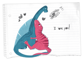 Notebook Paper Dinos by Blackpassion777