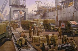 The 52nd Lowland at Cherbourg by Artistjeffries