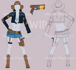 Cattle Punk outfit WIP by Stormweaver-Arts