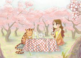 teaparty with a tiger by Sabeths-Reality