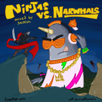 Ninjas Vs. Narwhals Cover Art by scarlet42