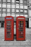 Red Phone Box by Engazung