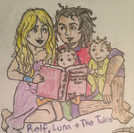 Luna and Rolf: Reading to the Twins by DidxSomeonexSayxMad