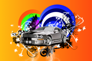 Mustang GT Vector Wallpaper by MariuxV