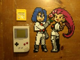 Team Rocket Beadsprites by 8bitsofawesome
