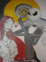 Jack and Sally WIP by bayleebree