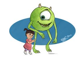 Mike and Boo by ronweasleyismyking