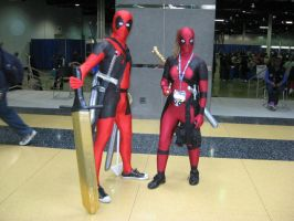 Deadpool and Lady Deadpool by Deckronomicon