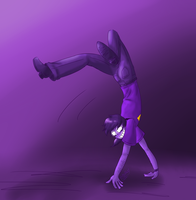 [FNAF 2] A very flexible Purple Guy by kilala1148