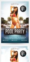Pool and Beach party flyers by saltshaker911