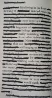 Blackout Poetry by dARk-knighT4