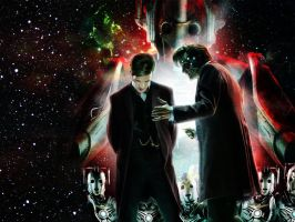 Doctor Who nightmare in silver Wallpaper by LaMoonstar