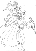 WoW - Nora and Naxius lines by aoichan1